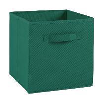 Boite De Rangement - Bac De Rangement COMPO Tiroir de rangement - Tissu - 27 x 27 x 28 cm - Vert anglais