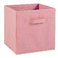 Boite De Rangement - Bac De Rangement COMPO Tiroir de rangement - Tissu - 27 x 27 x 28 cm - Vieux rose