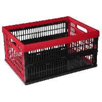Boite De Rangement - Bac De Rangement Outils (vide) Caisse pliante 34 L rouge
