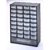 Boite De Rangement - Bac De Rangement Outils (vide) SUNDIS Bloc de rangement Multibox avec 33 tiroirs 29.8x15x41.4 cm noir et transparent