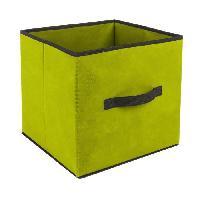 Boite De Rangement - Bac De Rangement Tiroir de rangement - 31 x 31 cm - Vert anis Aucune