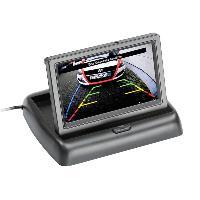 Boite Noire Video - Camera Embarquee Moniteur universel pliant 16-9 4-3 - 4.3 pouces camera recul 2AV clap up noir