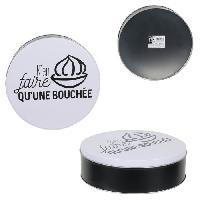 Boites De Conservation - Boites Hermetiques TOTALLY ADDICT Boîte a confiseries ronde - Métal - Aucune