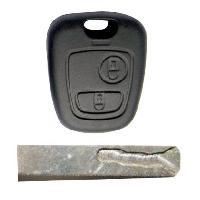Boitier - Coque De Cle - Telecommande PSA21 - Coque PSA 2 boutons Generique