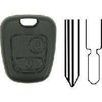Boitier - Coque De Cle - Telecommande PSA22 - Coque compatible Peugeot Citroen 2 boutons - ADNAuto