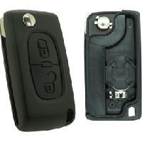 Boitier - Coque De Cle - Telecommande PSA278 - Coque compatible Peugeot Citroen 2 boutons - ADNAuto