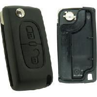 Boitier - Coque De Cle - Telecommande PSA278C - Coque compatible Peugeot Citroen 2 boutons - ADNAuto