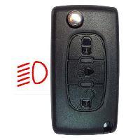Boitier - Coque De Cle - Telecommande PSA308P - Coque + lame PSA 3 boutons - ADNAuto