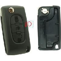 Boitier - Coque De Cle - Telecommande PSA378CP - Coque compatible Peugeot Citroen 3 boutons