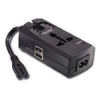 Boitier - Station Pour Composant Pc LINDY Protection de surtension pour Notebook C7/8 avec prises d'alimentation USB