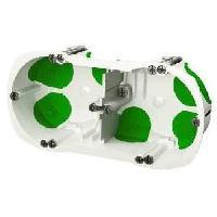 Boitier D'encastrement SCHNEIDER ELECTRIC Boîte double avec systeme étanche Ø 67 mm vert