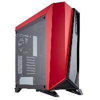 Boitier Pc - Panneaux Lateraux Boitier Moyen Tour Spec Omega - Noir et Rouge - Fenetre en Verre Trempe -CC-9011120-WW