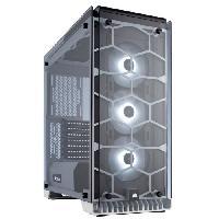 Boitier Pc - Panneaux Lateraux CORSAIR Boitier Moyen Tour Crystal 570X RGB - Blanc - Fenetre Verre Trempé (CC-9011110-WW)