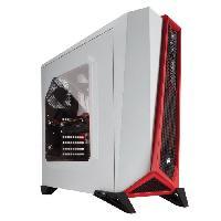 Boitier Pc - Panneaux Lateraux CORSAIR Boitier PC Spec Alpha - Moyen Tour - Rouge et Blanc - Fenetre Plexiglass (CC-9011083-WW)