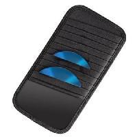 Boitier Rangement Cd - Boitier Rangement Dvd - Boitier Rangement Blu-ray 33836 Pochette pare -soleil pour vehicule - Pour 10 CD - Noir