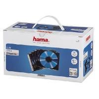 """Boitier Rangement Cd - Boitier Rangement Dvd - Boitier Rangement Blu-ray HAMA 51269 Boîtier CD """"Slim"""" - Boîte de 50 - Transparent et noir"""