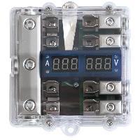 Boitiers de Distribution Bloc de distribution AGU avec voltmetre 4GAX38GAX4