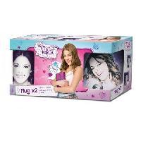 Bol - Mug - Mazagran Coffret cadeau Mug Violetta x2 325ML Easy Licence