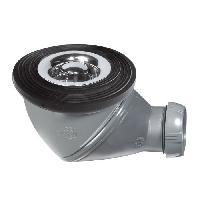 Bonde - Cabochon  Bonde de douche James - D50 mm - Grille en ABS chrome