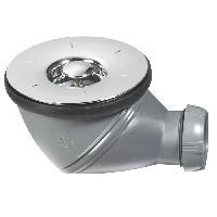 Bonde - Cabochon  Bonde de douche James - D90 mm - Grille en ABS chrome