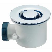 Bonde - Cabochon  Bonde de douche Tourbillon - D60 mm - Dome en ABS chrome