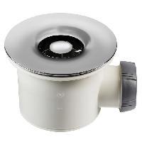 Bonde - Cabochon  Bonde de douche Tourbillon - D90 mm - Grille en ABS chrome