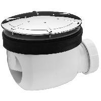 Bonde - Cabochon  Bonde de douche Twisto - D90 mm - Dome en ABS chrome