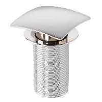 Bonde - Cabochon  Bonde de lavabo Quick-Clac - 75 mm - Carre - Sans trop-plein