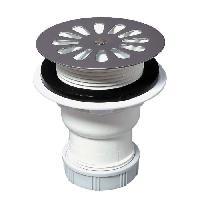 Bonde - Cabochon  Bonde siphoide pour receveur - D 60 mm - Sortie verticale