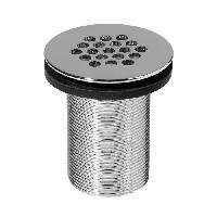 Bonde - Cabochon  WIRQUIN Bonde de lavabo design a 19 trous en laiton chromé 75 mm