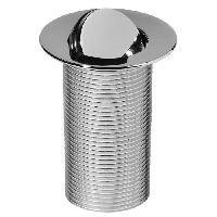 Bonde - Cabochon  WIRQUIN Bonde lavabo clapet rotatif laiton 100mm