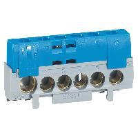 Borne - Bornier Bornier de neutre 5 bornes pour cable 6 a 25mm2 + 1 pour cable 10 a 35 mm2 bleu