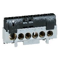 Borne - Bornier Bornier de phase 5 bornes pour cable 6 a 25mm + 1 pour cable 10 a 35 mm noir