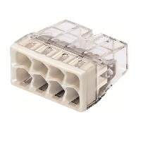 Borne - Bornier WAGO Blister de 10 bornes 2273 8 entrees 0.5 a 2.5 mm2 transparentes