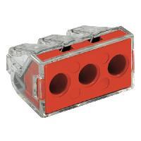 Borne - Bornier WAGO Blister de 10 bornes type 773 3 entrees 2.5 a 6 mm2 transparentes