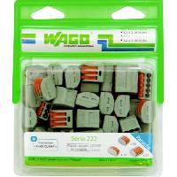 Borne - Bornier WAGO Blister de 50 bornes 222 2-3-5 entrees Wago Contact