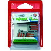 Borne - Bornier WAGO Blister de 5 bornes 3x25mm
