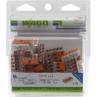 Borne - Bornier WAGO Pack de 40 Bornes de connexion universelle tous conducteurs - Type 221- 5 entrees