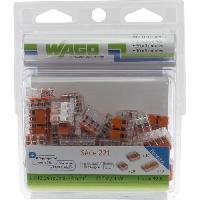 Borne - Bornier WAGO Pack de 50 Bornes de connexion universelle tous conducteurs - Type 221-2-3-5 entrees