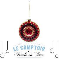 Bougeoir - Photophore - Bougie - Senteur Boule en verre rosace géométrique - 90 mm