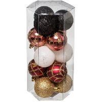 Bougeoir - Photophore - Bougie - Senteur Kit de 15 boules de Noël - 50 mm