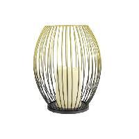 Bougeoir - Photophore - Bougie - Senteur THE HOME DECO LIGHT Lanterne filaire - Bougie Led - Noir-Dore - Aucune
