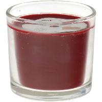 Bougeoir - Photophore - Bougie - Senteur Verre bougie Bodega - Parfum fruits rouge - Rouge