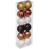 Bougeoir - Photophore - Bougie - Senteur kit de 12 boules de Noël Grand hotel - 40 mm
