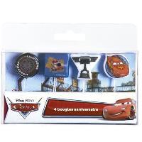 Bougie Anniversaire DEVINEAU 4 bougies sur pics Cars