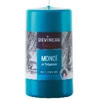 Bougie (hors Anniversaire) DEVINEAU Bougie cylindrique parfumée - Bleu Monoi de Polynesie