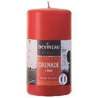 Bougie (hors Anniversaire) DEVINEAU Bougie parfumée Ø7xH13 cm - Grenade d'Inde