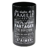 Bougie (hors Anniversaire) THE HOME DECO FACTORY Bougie vase - D15 X h25 cm - Noir - Aucune