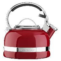 Bouilloire Traditionnelle - A Sifflet KITCHENAID KTEN20SBER - Bouilloire sifflet - 1.9 L - Rouge empire - Tous feux dont induction