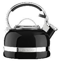 Bouilloire Traditionnelle - A Sifflet KITCHENAID KTEN20SBOB - Bouilloire sifflet - 1.9 L - Noir onyx - Tous feux dont induction
